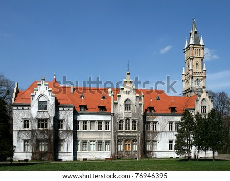 Upper Silesia region of Poland - famous palace in Naklo Slaskie