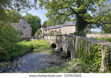 Upper Swell, a Cotswold village near Stow on the Wold - stock photo