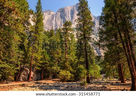 Upper Yosemite Falls, Yosemite National Park, California - stock photo