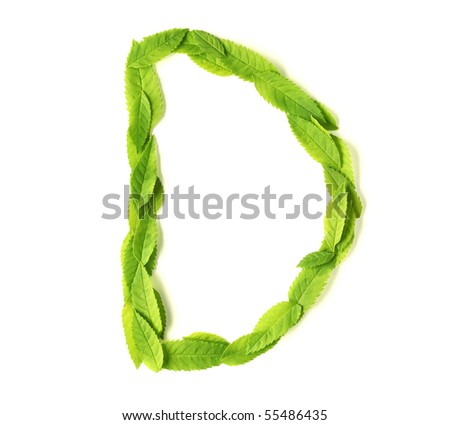 Uppercase letters made of leaves - stock photo