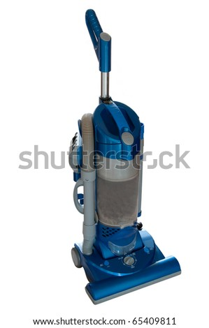 Upright hoover isolated on white - stock photo