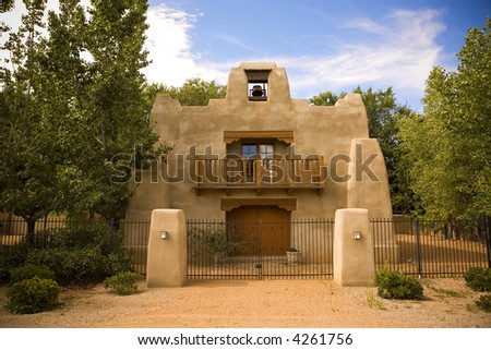 Upscale Adobe in Southwest - stock photo