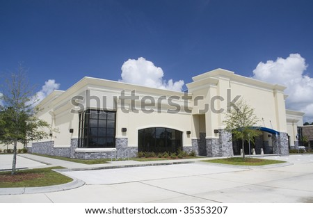 upscale empty retail store ready for a business - stock photo