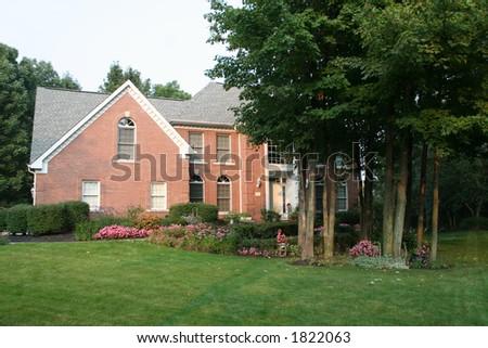 upscale home - stock photo