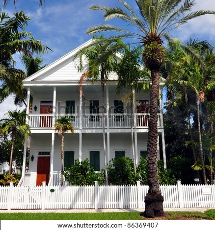 Upscale Key West Style Architecture - stock photo