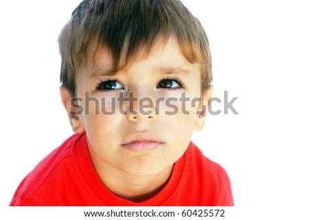 Upset Boy - stock photo