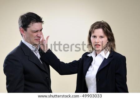upset business woman - stock photo