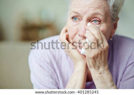Upset woman - stock photo