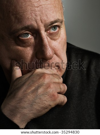 Upsetting thought - stock photo