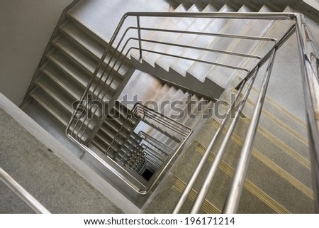 Upside View Of A Square Staircase
