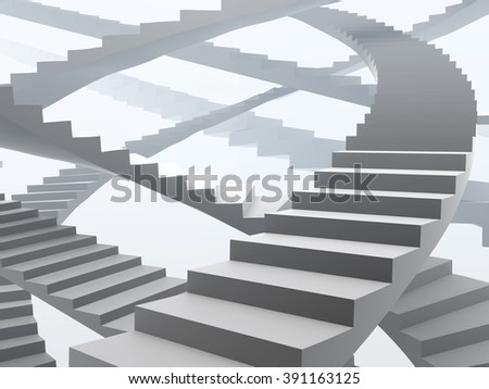 Upstairs growth success many way concept illustration. - stock photo