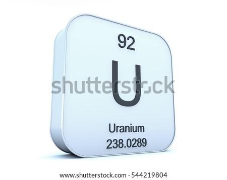 Uranium Element On White Square Icon Stock Illustration 544219804
