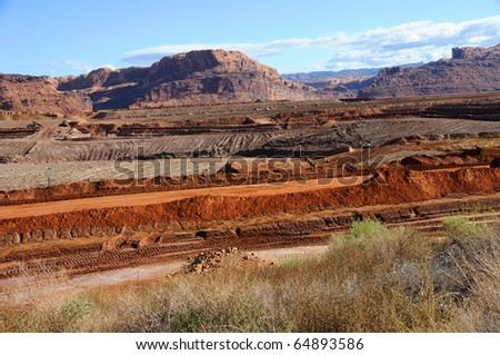 Uranium Mine Tailings Clean-Up near Moab - stock photo