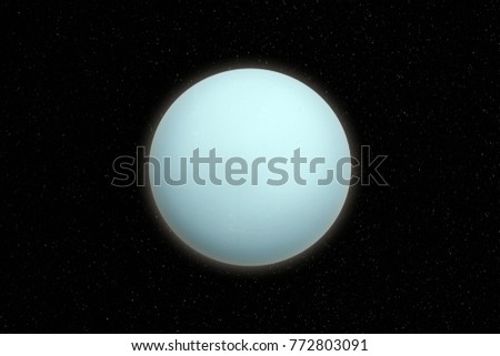 Uranus planet in outer space. Elements of this image furnished by NASA