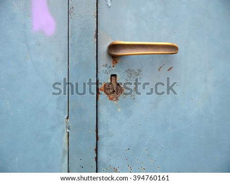 Urban abstract,detail of a door - stock photo