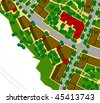 urban area drawing - colored - stock photo
