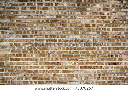 Urban Background (Brown Brick Wall Texture) - stock photo