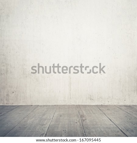 Urban background. Empty concrete wall and floor. - stock photo