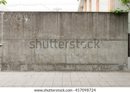 Urban Background Empty Street Wall Pavement Stock Photo ...