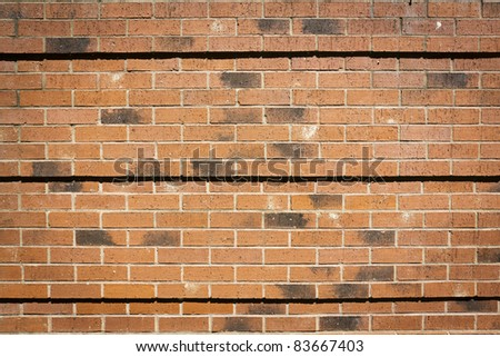 Urban Background (Red Brick Wall Texture) - stock photo