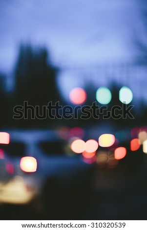 urban background with lights - stock photo