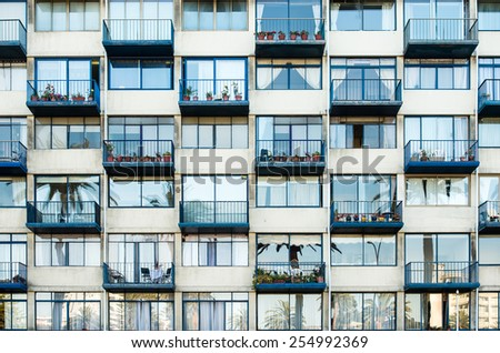 Urban building and city lifestyle. - stock photo
