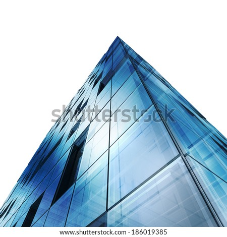 Urban building. Building design and 3d model my own - stock photo