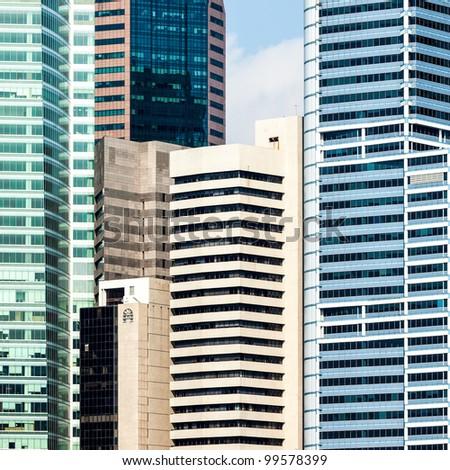 Urban buildings skyscrapers background. - stock photo
