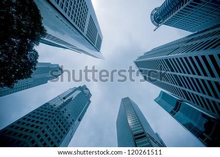 urban cityscape - stock photo
