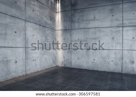Urban Concrete Background, Modern Empty Interior Space as Backdrop