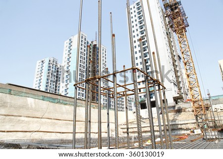 Urban construction buildings foundation