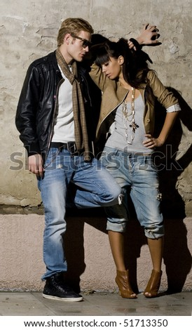 Urban couple in love - stock photo