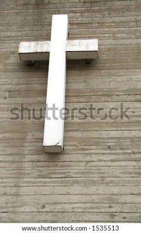 Urban cross - stock photo