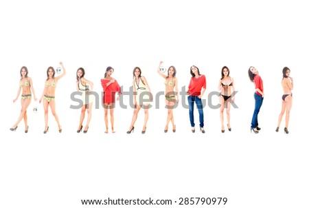 Urban Culture Female Diversity  - stock photo