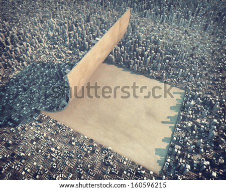 Urban development - stock photo