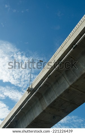 urban flyover close up - stock photo