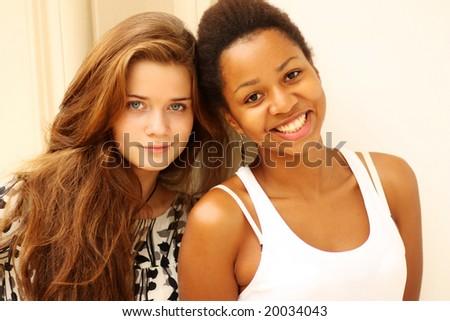 urban girls - stock photo