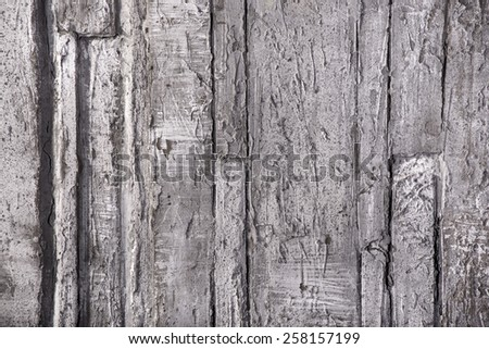 Urban grunge background, shabby wall with paint and plaster cracks horisontal - stock photo