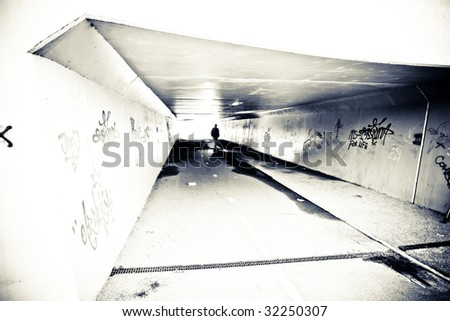 Urban Grunge Shot with lots of Texture - stock photo
