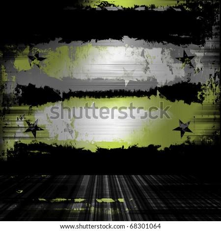 Urban Grunge Wall Military Backdrop - stock photo