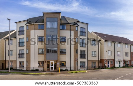 Urban housing in southern England