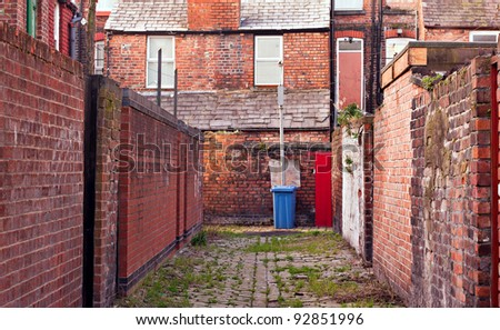 Urban inner city alley - stock photo