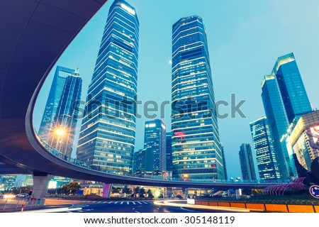 Urban landscape and modern architecture in Shanghai, China