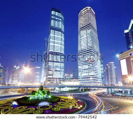 Urban landscape and modern architecture, Shanghai, China - stock photo