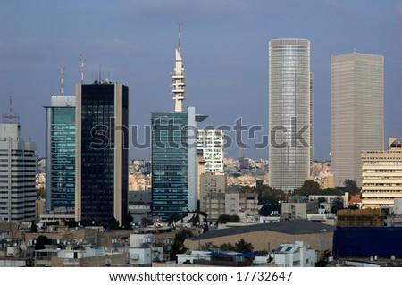 urban landscape in tel aviv, israel - stock photo
