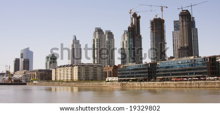 Urban landscape. Panoramic view of Puerto Madero, Buenos Aires, Argentina. - stock photo