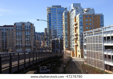 Urban landscape, Portland OR. - stock photo