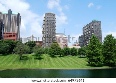 Urban landscape - St. Louis Missouri, USA - stock photo
