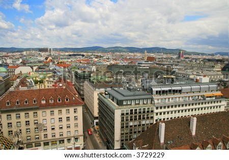 Urban Landscape. View of Vienna