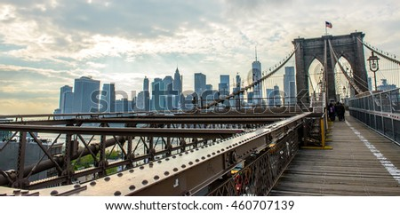 Urban life from Brooklyn Bridge